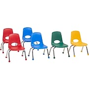 Factory Direct Partners Stack Plastic School Chair, Assorted Colors (10357-AS)