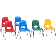 Factory Direct Partners Stack Plastic School Chair, Assorted Colors (10358-AS)