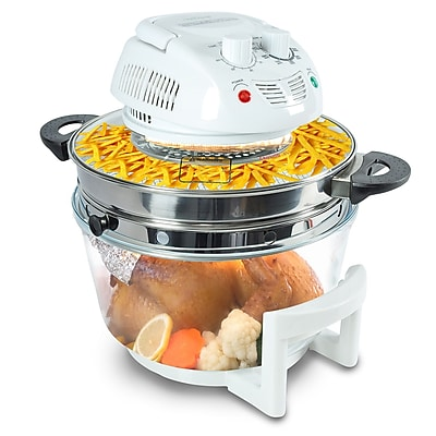 Nutrichef 13+ Qt. Halogen Oven Air-Fryer/Infrared Convection Cooker White (PKAIRFR48)