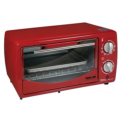 Better Chef 9 Liter Toaster Oven Broiler Red (IM-257R)