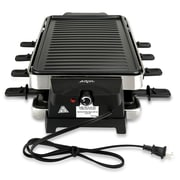 Nutrichef Raclette Grill Two-Tier Party Cooktop Black