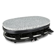 Nutrichef Raclette Grill Two-Tier Party Cooktop Stone Finish (PKGRST54)