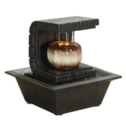 Serene Life Water Fountain - Relaxing Tabletop Water Feature Decoration Gray (93599597M)