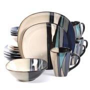 Gibson Althea 16 Piece Stoneware Dinnerware Set Teal 105983.16