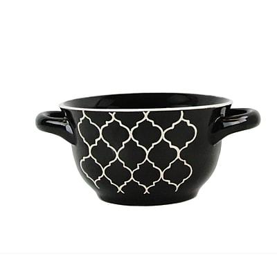 Crock-pot Mathiston 2 Pieces 27oz Ceramic Soup Bowls Set Black 98269.02