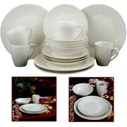 Elama Ivory Terrace 16 Piece Textured Dinnerware Set White 93597266M