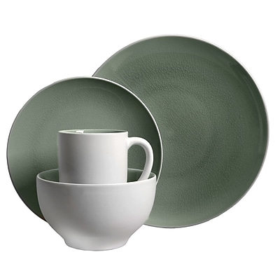 Gibson Serenity Gray 16pc Dinnerware Set- Gray 93597362M 24004846