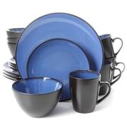 Gibson Soho Lounge Round 16pc Dinnerware Set, Blue 93597331M