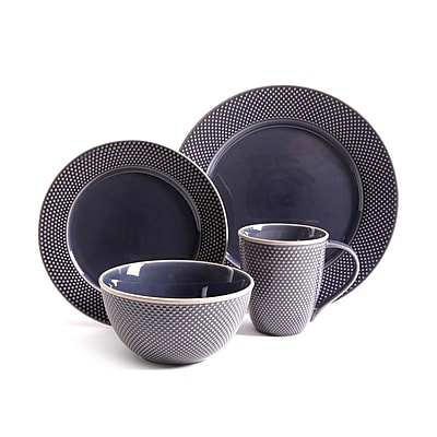 Gibson Lilith 16pc Dinnerware Set - Purple