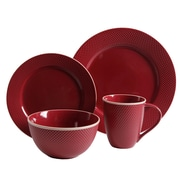 Gibson Lilith 16pc Dinnerware Set- Red 93597330M