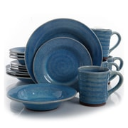 Gibson Elite Mariani 16 Piece Stoneware Dinnerware Set in Blue 93597571M