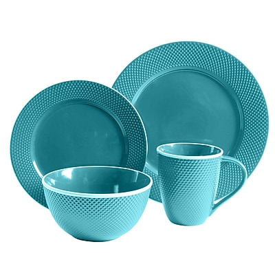 Lilith 16 Piece Dinnerware Set in Blue 93597328M