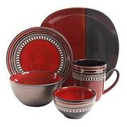 Gibson Ocean View 16 Piece Dinnerware Set, Red 93598625M