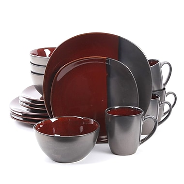 Gibson Volterra 16pc Dinnerware Set Red 93597355M