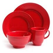 Gibson Home Stanza 16 Piece Stoneware Dinnerware Set Red 93597566M