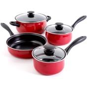Gibson Home Callisburg 7-Piece Cookware Set, Red (93586671M)