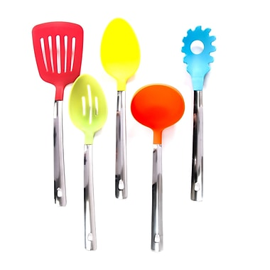 Gibson 5 pc Multicolored Kitchen Tool Set (93597257M)