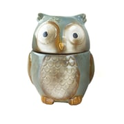 "Gibson Home 7.5"" Stoneware Blue Owl Cookie Jar"