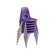 Factory Direct Partners Stack Plastic School Chair, Purple (10368-PU)