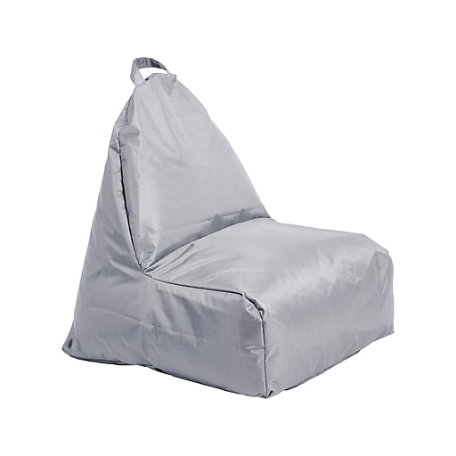 Wondrous Cali Alpine Fabric Bean Bag Chair Gray 10481 Gy Andrewgaddart Wooden Chair Designs For Living Room Andrewgaddartcom
