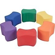 SoftScape Butterfly Polyurethane/Foam Ottoman Chair, Assorted Colors (10442-AS)