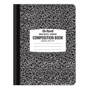 """Oxford Composition Book, 9 3/4"""" x 7 1/2"""", Wide Ruled, 60 Sheets, Black Marble (94122)"""