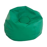 SoftScape Classic Faux Leather Bean Bag Chair, Green (10478-GN)