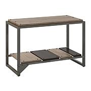 "Bush Furniture Refinery 20.71"" Shoe Storage Bench, Rustic Gray/Charred Brown (RFS232RG-03)"