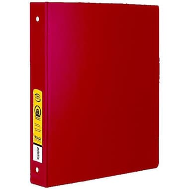 Bazic Products 1 in. Red 3-Ring Binder with 2-Pockets - Pack of 12(BAZC1700)