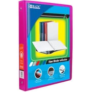 Bazic Products .5 in. Fuschia 3-Ring View Binder with 2-Pockets - Pack of 12(BAZC1695)