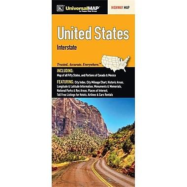 Universal Map United States Interstate Fold Map(RTL249800)