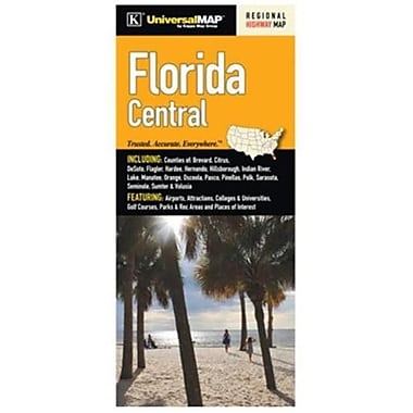 Universal Map Florida Regional Central Fold Map(RTL249052)