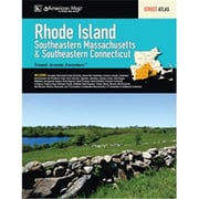 Universal Map Rhode Island SE Massachusetts And SE Connecticut State Road Atlas(RTL248986)