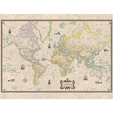 Universal Map Antique Style World Paper - Rolled Map(RTL249942)
