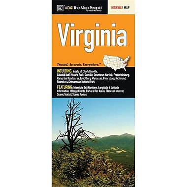 Universal Map Virginia State Fold Map(RTL249846)