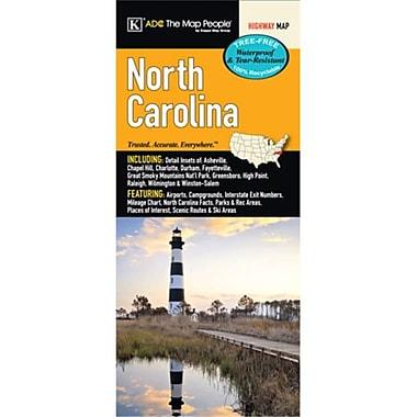 Universal Map North Carolina Laminated Map(RTL249545)