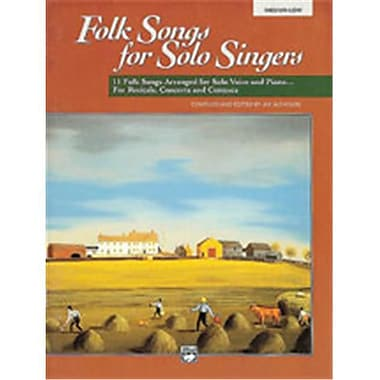 Alfred Folk Songs for Solo Singers- Vol. 1 - Music Book(ALFRD49010)