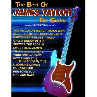 Alfred The Best of James Taylor for Guitar - Music Book(ALFRD36753)