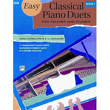 Alfred Easy Classical Piano Duets for Teacher and Student- Book 1 - Music Book(ALFRD43868)