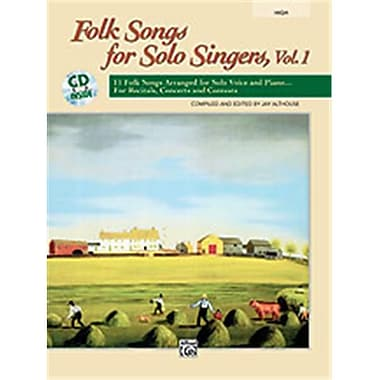 Alfred Folk Songs for Solo Singers- Vol. 1 - Music Book(ALFRD49110)