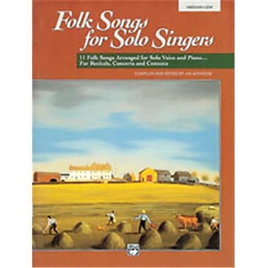 Alfred Folk Songs for Solo Singers- Vol. 1 - Music Book(ALFRD49331)