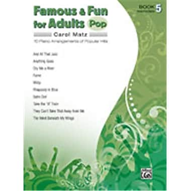 Alfred Famous & Fun for Adults- Pop- Book 5 - Music Book(ALFRD42739)