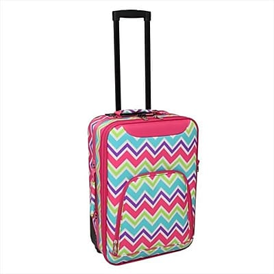All-Seasons 20 in. Chevron Multi-Print Rolling Carry-On