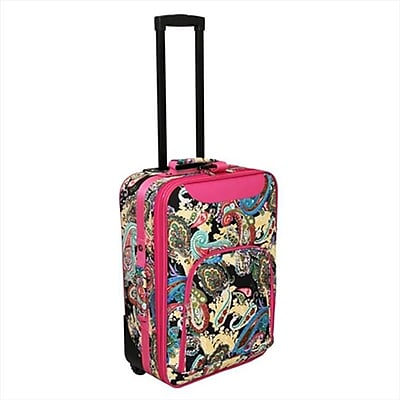 All-Seasons 20 in. Paisley Print Rolling Carry-On
