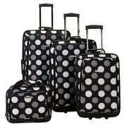 Fox Luggage 4Pc Blackdot Luggage Set Rockland(FXL127)