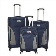 Chariot Prato Lightweight Upright Spinner Luggage Set, Navy - 3 Piece(ECWE338)