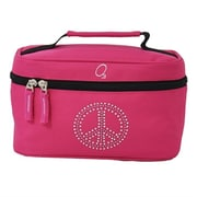 Obersee Kids Toiletry & Accessory Bag - Bling Rhinestone Peace(HLMN195)