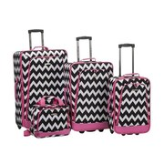 Fox Luggage Luggage Set - Pinkchevron, 4 Pieces(FXL657)