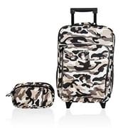 Obersee Kids Luggage & Toiletry Bag Set - Camo(HLMN164)
