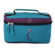 Obersee Kids Toiletry & Accessory Bag - Turquoise Butterfly(HLMN193)